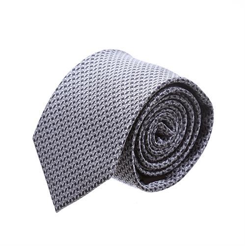 """עניבה """"סימטריה"""" אפור שחור"""