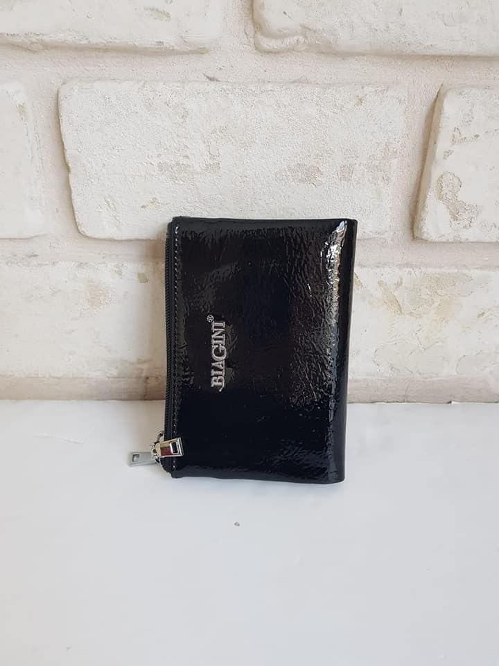ארנק דמוי עור קטן שחור לקה 4026