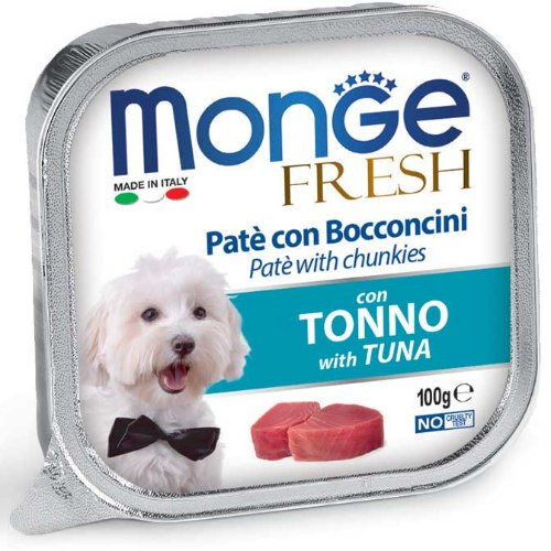 מונג' פטה ונתחי טונה 100גרם - MONGE FRESH PATE TUNA 100G