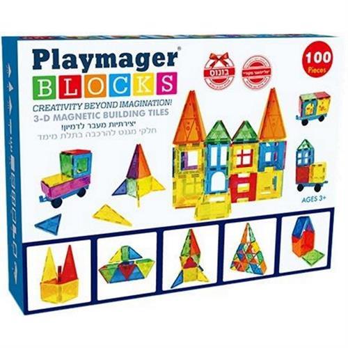 Playmager מגנטים 100 יחידות