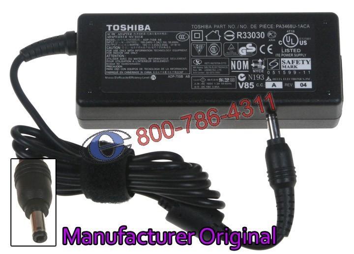 מטען מקורי למחשב נייד טושיבה Toshiba Satellite A300 / A305 Ac Adapter, 19v, 3.95a, 75 watt