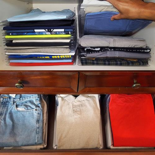 מתקן לשמירת הסדר בארון הבגדים