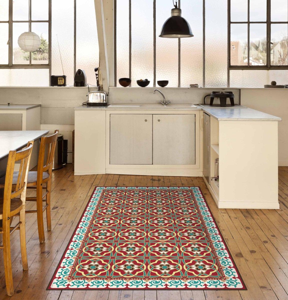 שטיח פי.וי.סי ערבסק אדום TIVA DESIGN קיים בגדלים שונים