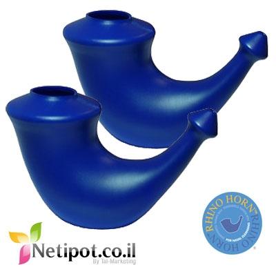 נטיפוט ריינו הורן מארז זוגי צבע כחול
