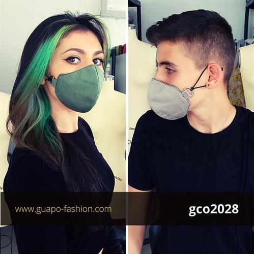 מסכת בד חלקה fabric corona mask