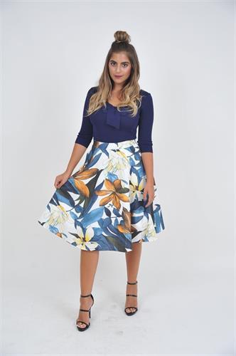 חצאית פרחונית