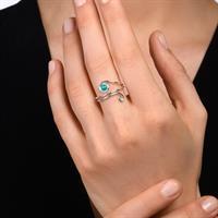 טבעת נחש לבן