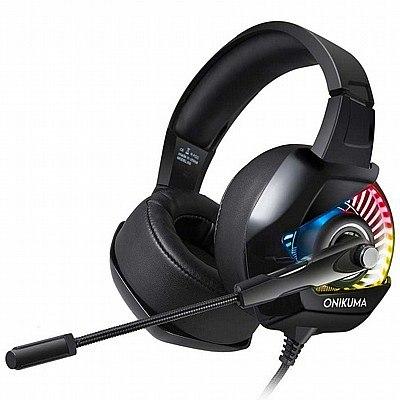 אוזניות גיימינג Onikuma K6 + מתאם