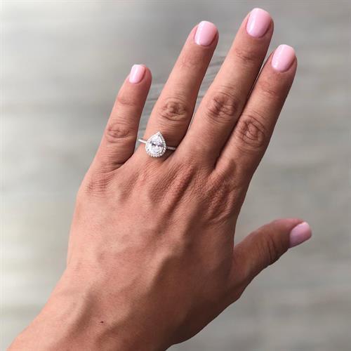 טבעת טיפה קטנה - כסף 925
