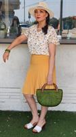 חצאית פליסה קצרה
