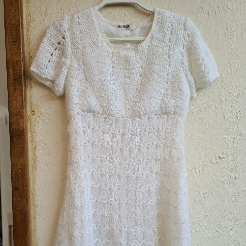 שמלת מיני סרוגה שנות ה 70 XS
