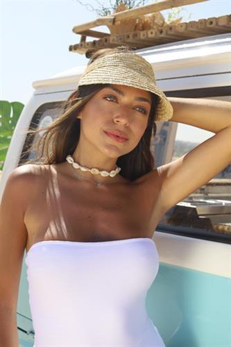 כובע קש מצחייה - Rio