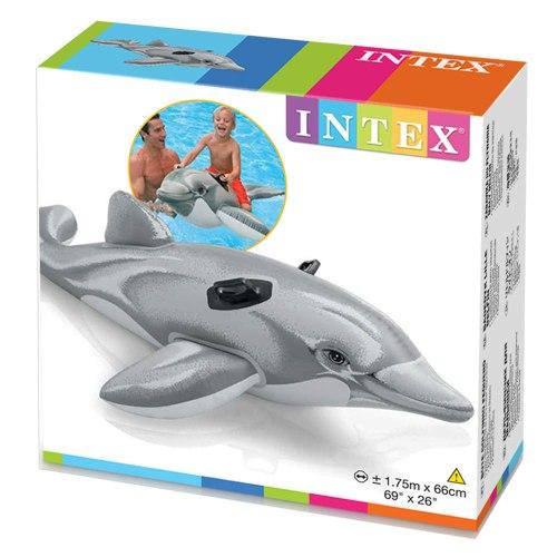 58535 INTEX דולפין מתנפח לרכיבה לבריכה