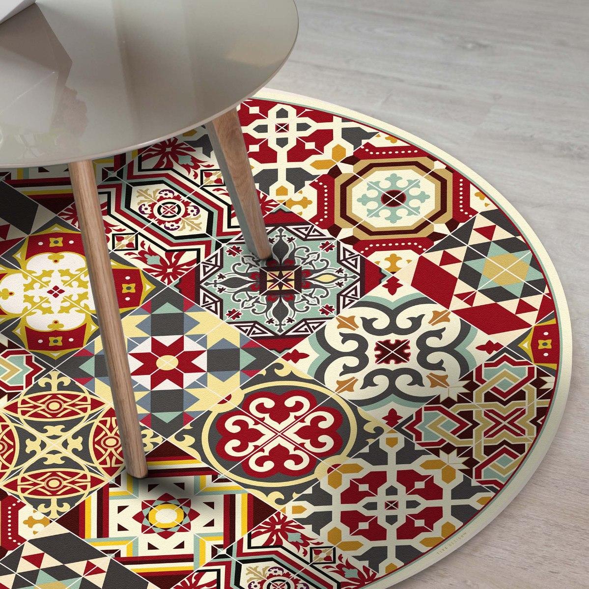 שטיח פי.וי.סי עגול ביזנטי  TIVA DESIGN קיים בגדלים שונים