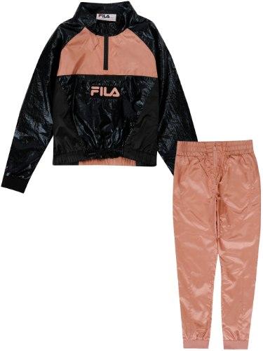 חליפת ניילון שחור/אפרסק FILA - מידות 6-16