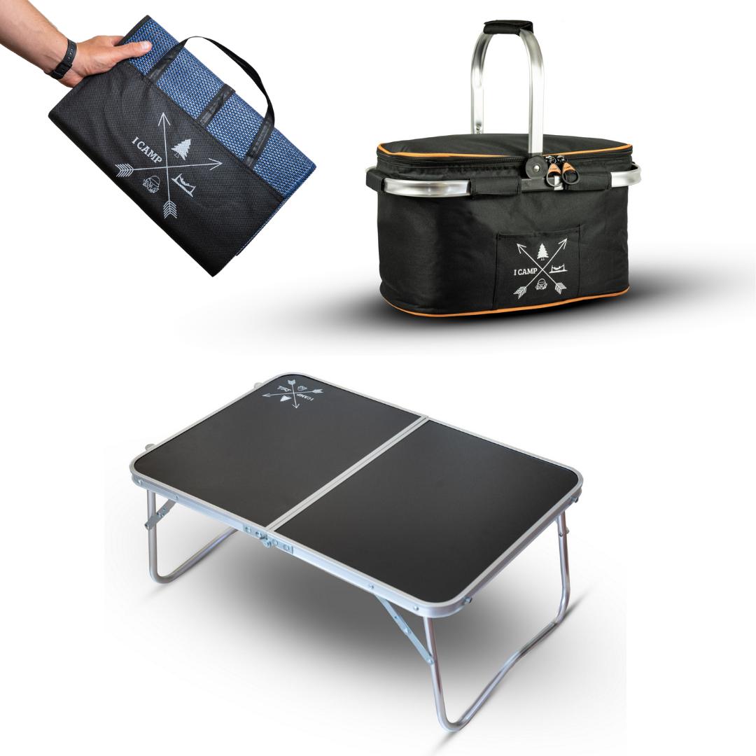 שולחן Mini Coffee + מחצלת 2GO + סלסלת BASKET 2GO