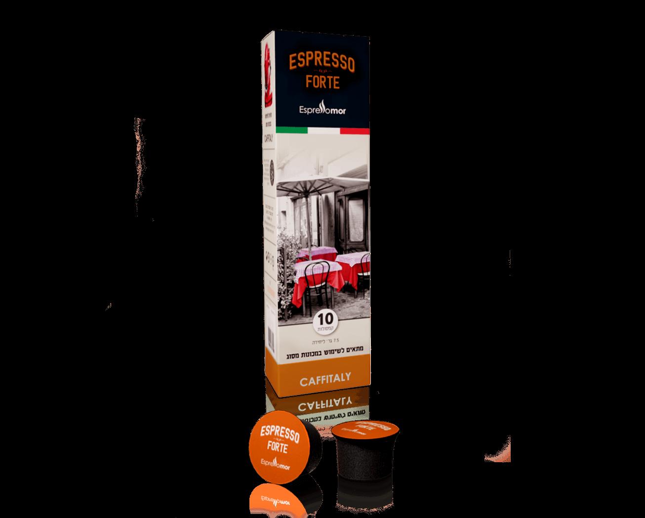 10 קפסולות אספרסו מור Forte תואם קפיטאלי
