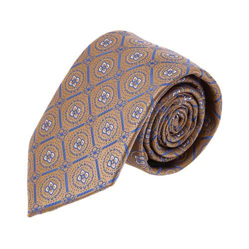 עניבה פרחים משולב חום כחול