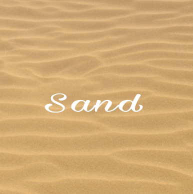 SAND - cake sticker placemat - 5 peaces