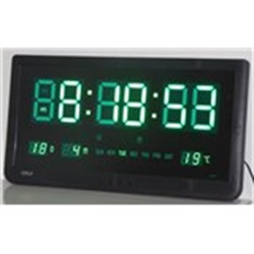 שעון קיר חשמלי גולף ירוק GOLF 4825G