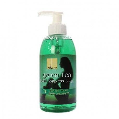 """- ד""""ר כדיר תה ירוק אל סבון ג'ל לפנים - Dr. Kadir Green Tea-Soapless Soap"""