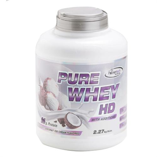 -- אבקת חלבון פאוארטק HD בטעם שוקולד קוקוס-- Pure Whey Hd, מכיל   2.3 קג