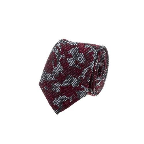 עניבה מנומרת אדום- בורדו