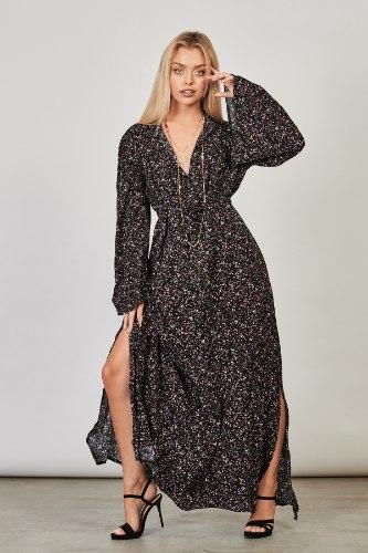שמלת ערב לילוש פרחונית
