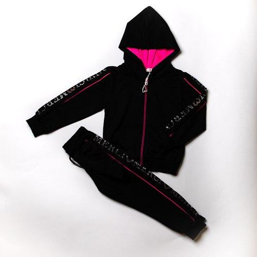 חליפת בנות מעוצבת שחורה