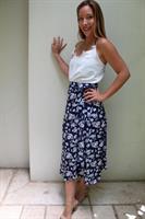 חצאית מעטפת פרחים לילך