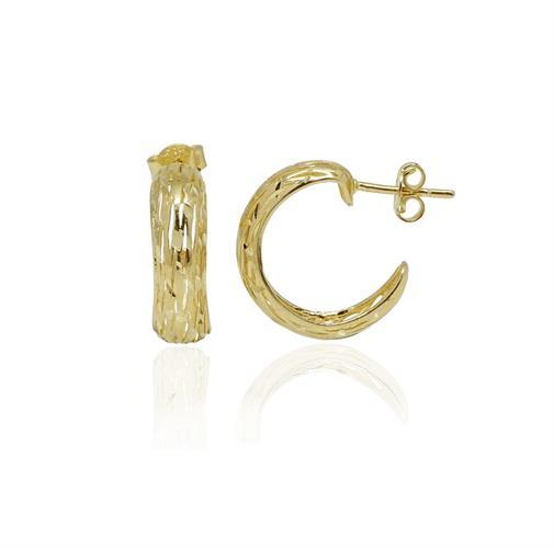 """חצי חישוק זהב מיוחד שנראה כמו חוטי זהב 1.6 ס""""מ"""