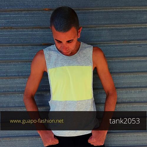 color block vest for men גופיה צבעונית לגברים