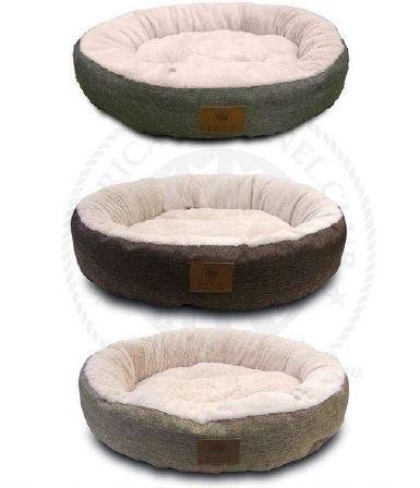 מיטה עגולה קרבולית 70 סמ AKC צבע חום
