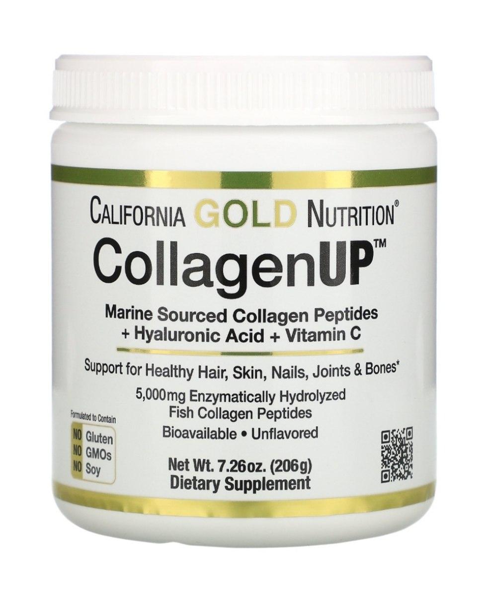 אבקת קולגן מבית קליפורניה גולד  COLLAGEN UP 206 גרם