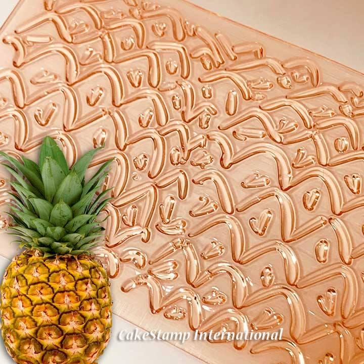 Pineapple texture mat + aloha +hello summer stamps