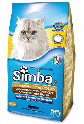 """מזון לחתולים 20 ק""""ג סימבה עוף"""