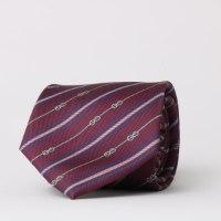 עניבה פסים/ שרשראות בורדו