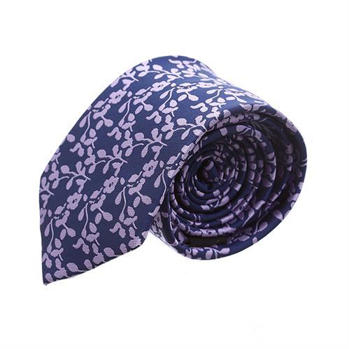 עניבה פרחים סגול כחול