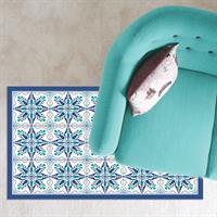 שטיח pvc כחול