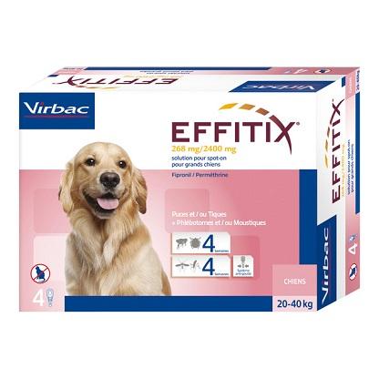 """אפיטיקס Effitix Virbac למשקל 40-20 ק""""ג"""