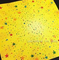 5 יחידות צהוב כוכבים - טפט מצופה למינציה