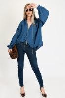 חולצת נדין כחול/בריק