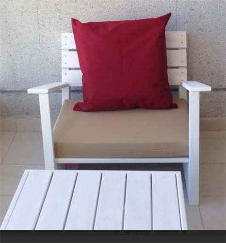 ספסל ישיבה מעוצב ליחיד 70*60