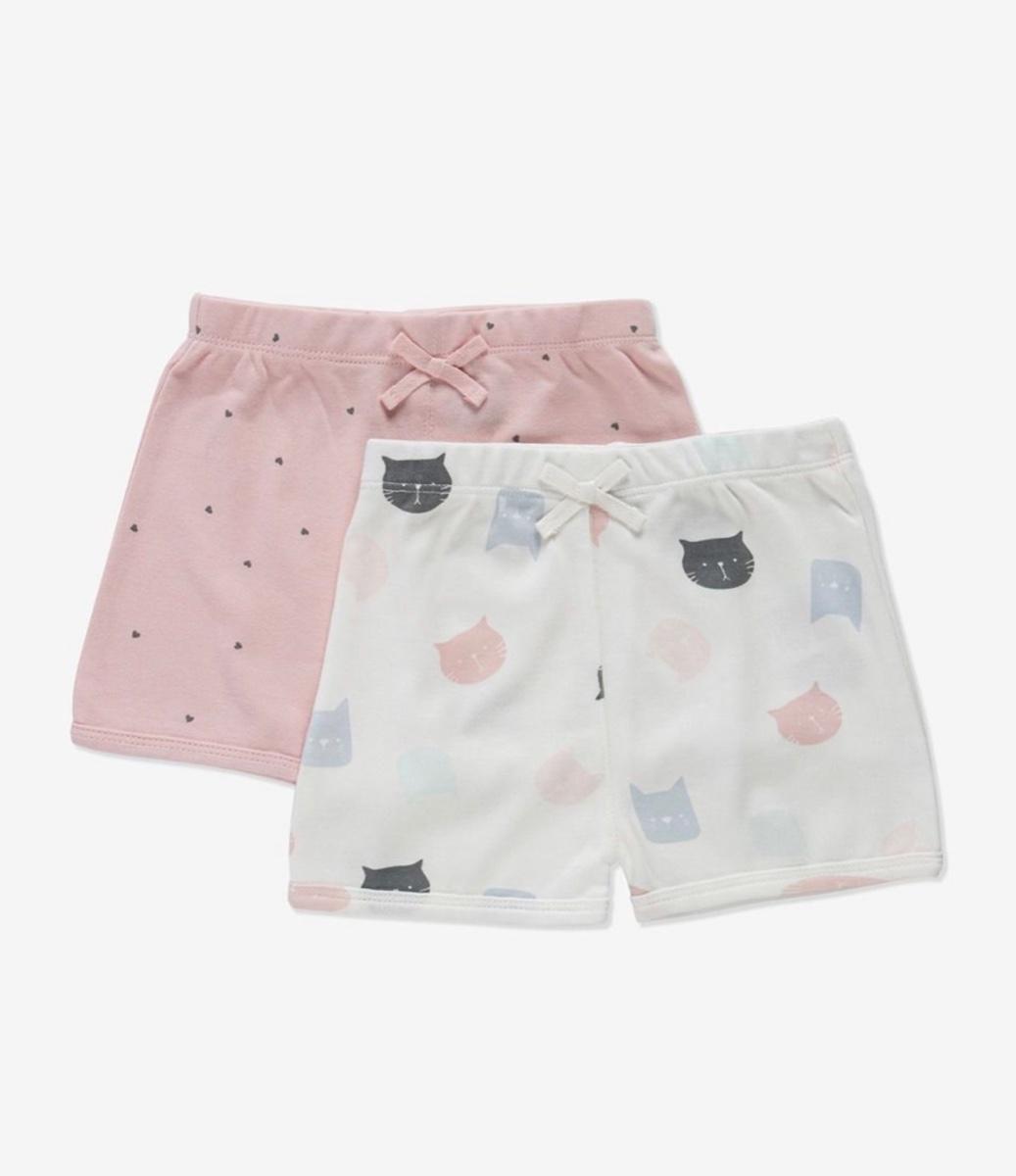 MINENE זוג מכנסיים קצרים מידות 0-18 חודשים