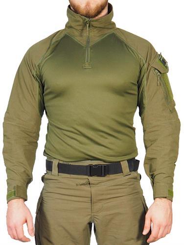 חולצה מדי פשיטה ג  טקטי ללוחם  כיס יחיד מדי לחימה צבע ירוק זית דגם  Keela