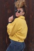 ג'קט ג'ינס ריינבו צהוב