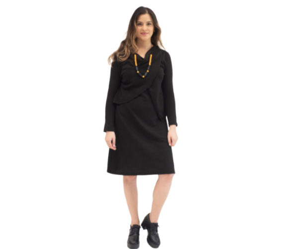 """Black """"Efrat"""" Knitted Dress - Imahot"""