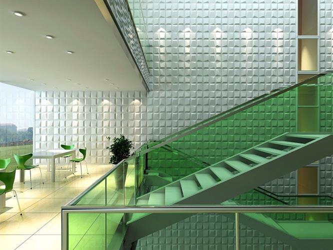"""חיפויי קיר תלת מימדי דגם ''moasics'' בגודל 62.5*80 ס""""מ"""