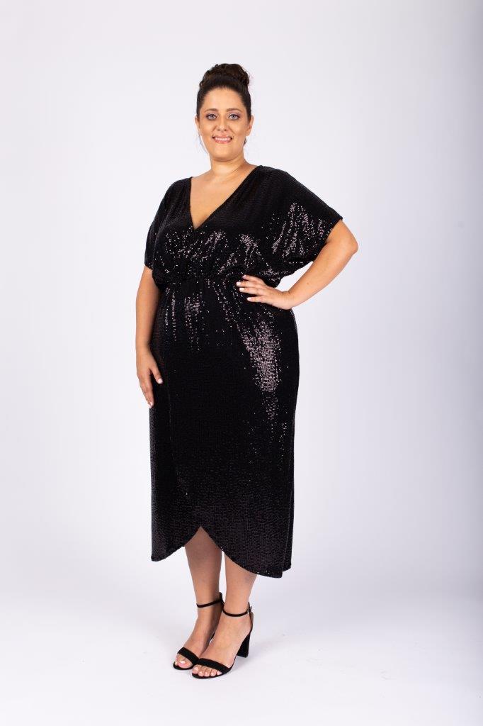 שמלת לורנה שחורה