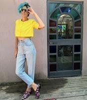 ג'ינס ניטים בהיר שנות ה-80 מידה S